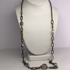 Jewelry - Steampunk Chain & Bead Necklace